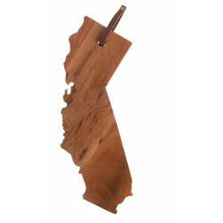 "Acacia Wood ""California"" Cutting Board 14""X10"" - Natural"