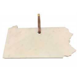 "Lg Polished Marble ""Pennsylvania"" Cutting Board 15""X8.25"" - White"