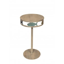 Bright Stripe Iron Fish Band Drink Table