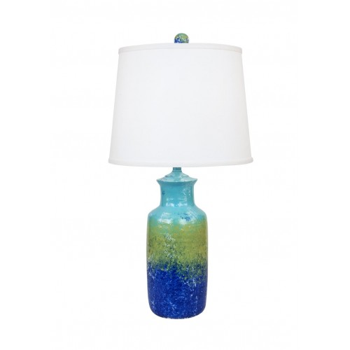 Bright Stripe Tall Pottery Table Lamp