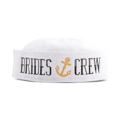Nautical Bachelorette Party Sailor Hat - Bride's Crew